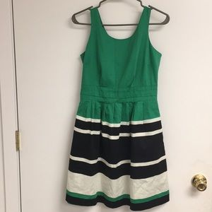 The Limited green and black dress